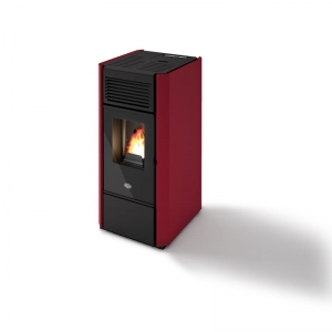 Piecyk na pellet BETTY 9kW kolor bordo